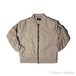 Wholesale El nuevo estilo de Europa América Kanye Amores sólidas MA1 estilo militar rompió capa de la chaqueta del invierno del otoño de la solapa del deporte del cuello del suéter