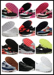 2016 shoes run air max Cheap Brand Max 90 Running Shoes For Women & Men, Soft Air Cushion Fashion Athletic Outdoor Sport Sneakers Eur Size 36-45