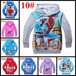 Wholesale Children hooded olaf mickey minne spiderman minion cartoon boys jumpers terry hoodies kids warm sweatershirts baby boy girl lothes styles