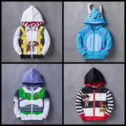 Wholesale Latest style Children Hoodies JACKET BABY girls Boys sweatshirts Jacket dor shark cars cosplay Kids hooded jumpers cartoon winter coat