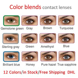 Wholesale 3 tone fresh color blends contact lenses crazy lens colors for DHL ready stock