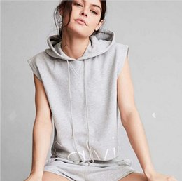 Wholesale 2016 summer sleeveless sweatshirt Jogging Suits for Women with Short Pant Piece set Woman Tracksuit Casual Sport suit
