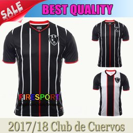 b3657f643 2017 Mexico Club de Cuervos Nueva Temporada Soccer Jerseys 17 18 Crows  Maillot de foot 2018 Home Away Best Quality Football Shirts