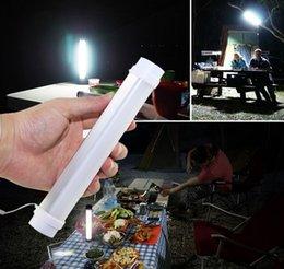 Tubo portátil LED Camping Lâmpada Build-in bateria recarregável de carregamento USB Lanterna