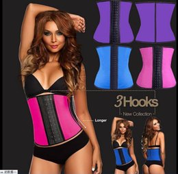 Wholesale 2015 Latex Waist Training Corsets Waist Trainer Cincher Ann Chery Style Sport Girdle Steel Boned Rubber Simplicity Underbust Body Shaperwear