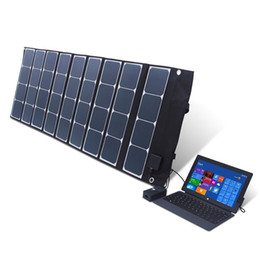 online shopping 120W folding solar panel system DC V USB V Dual charger port Built in controller solar cell battery charger system wholesa
