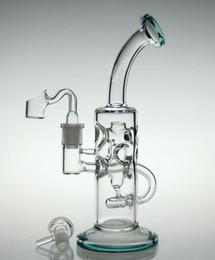 Новые стеклянные бонги! Циркулирующая вода стакан воды труб стакан воды затяжками перколяторах с 14.4mm сустава