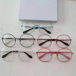 discount designer round eyeglass frames for men round full frame sunglasses frame alloy double hinge designer