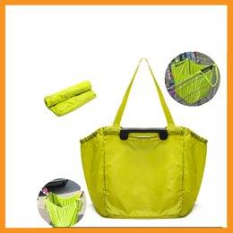 Wholesale Manufacturer custom supermarket trolley folding shopping bag large capacity waterproof Oxford cloth folding shopping bag