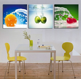 Discount Fruit Decorations For Kitchen Canvas Prints Fruit Water Modern Wall Painting Home Decorative Art Picture
