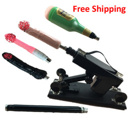 Wholesale Automatic Adjustable Speed Sex Machine Gun with Big Dildo Fuck Machine for Women Female Masturbation Love Machine vibrator Sex Toy for Man