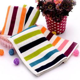 35*75cm 4pcs Striped Thick 100% Cotton Hand Towel Set Bathroom,Home Set