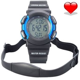 Wholesale Free shopping Chest Strap Pedometer Heart Rate Calories Digital Sports Watch with LCD Monitor Exercise Memory Mode Stopwatch ATM