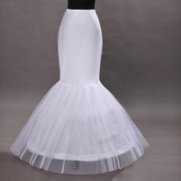 Wholesale Enhorabuena de la boda de sirena barata increíble trompeta piso de longitud de la falda aro de enagua Enagua de crinolina detalles de la novia