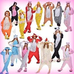 Wholesale Hot Unisex Adult Cosplay Costume Anime Animal Bee Fox Cat Lion Minions Nightwear Onesie Sleepwear Party Dress Pajamas