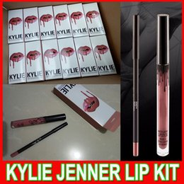 Wholesale Latest KYLIE JENNER LIP KIT liner Kylie Lipliner pencil Velvetine Liquid Matte Lipstick in Red Velvet Makeup Lip Gloss Make Up