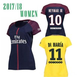 d35396924 MBAPPE Hot Sell Women Thailand Quality 17 18 Soccer Jersey Paris NEYMAR JR  Verratti Lucas Pastore Di Maria 2017-2018 Home Away Football ...