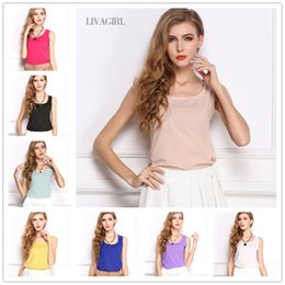 Wholesale 2016 New Fashion Vest Blouses Womens Clothing Colors Tank Top Shirt European Style Summer Tank Tops For Women