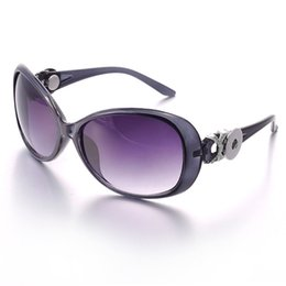 2017 woman uv sunglasses Promotion-5pcs lot 5 colors Ginger Snap Button Women Sunglasses Goggle Glasses Eyewear UV Protection Sunglasses Fit Snap button jewelry inexpensive woman uv sunglasses