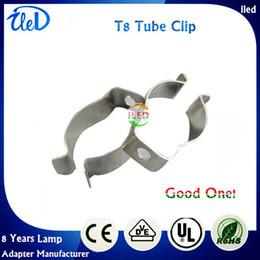 T5 / T8 / T4 tubo da lâmpada do grampo de fixação do grampo da pinça do tubo da lâmpada do grampo clipe de retenção da mola fivela do metal cartão fluorescente, DHL Frete Grátis