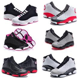 huge discount d0fee ff566 Vente en ligne pas cher Nouveau 13 enfants chaussures de basket pour les  garçons filles espadrilles enfants Babys 13s chaussure de course taille  11c-3y