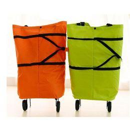 Wholesale Oxford Doek foldable bag new reusable shopping bag trolley bags on wheels bags on wheels