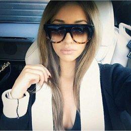 Wholesale Square Flat Top Large Sunglasses Big Oversized Vintage Retro Wayfarer Aviator Sunglasses Mens Womens