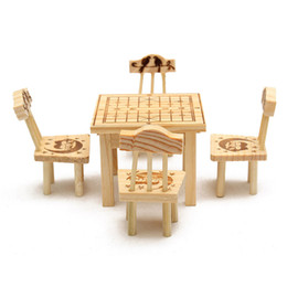 discount dollhouse miniature chair fashion cute small dollhouse miniature furniture wooden mini dining room 1 table affordable dollhouse furniture
