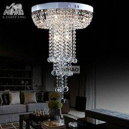 Long Ceiling Light Fixture: Diameter 400mm Round Crystal Ceiling Light long lustres de cristal light  fixture Modern Crystal lamp fitting home decoration affordable long modern  ceiling ...,Lighting