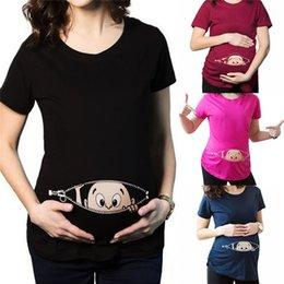 Novas chegadas grávidas T-shirt maternidade suprimentos camisa O-pescoço verão algodão padrões de impressão KD3 Casual Frete Grátis