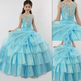 Sky Blue Kids Ball Gowns Online | Sky Blue Kids Ball Gowns for Sale