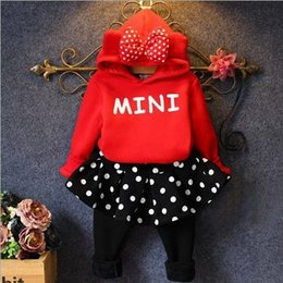 Wholesale Hug Me Minne Baby Girls Outfits and Sets Babys Kids Clothes New Autumn Winter Long Sleeve Jacket and Pants Sets ER