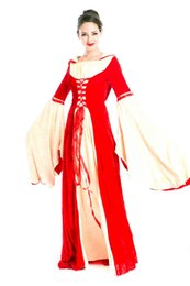 Wholesale European Retro Court Dress Nobility Queen Ball Clothing Costume Medieval Costume Mistress Evening Suits Halloween Costume Party