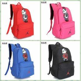 2016 bolsos de escuela Nueva AJ 23 Mochilas Panda Jovenes niños escolares Mochilas Bolso del caramelo del color del envío libre