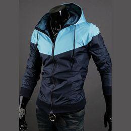 Wholesale O envio gratuito de de moda Novo estilo mens casacos de capuz homens jacket cor ativa casuais quebra vento jaquetas cores D081