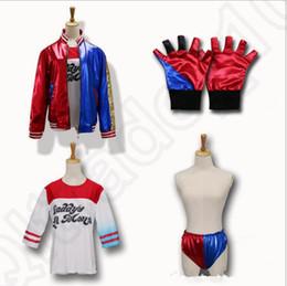 escadrons de suicide Cosplay Costumes Costumes d'Halloween pour les femmes Shiny Gants veste 4pcs Film Vêtements / set OOA819