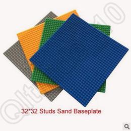 Wange Building Blocks Placa Base 32x32 Puntos 25.5x25.5cm DIY Baseplate Para Minifiguras Compatible Con Bloques Bloque Construcción CCA4470 100pcs