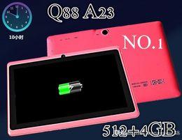 DHL 50PCS 4GB ROM 7 pouces Q88 Pro A33 Quad Core Allwinner Android 4.4 Tablet PC 512MB RAM écran Bluetooth Wifi capacitive 6 A-7PB