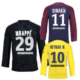 167c38dbb 2017 psg Long sleeve soccer jerseys neymar jr 17 18 THIRD BLACK verratti  cavani PASTORE di maria maillot de foot Paris football Jersey