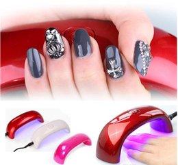 Wholesale Professional W LED Nail Dryer s fast dry nail art tools LED UV Light Curing Lamp Machine DHL