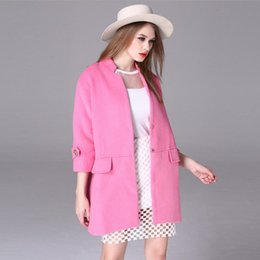 Discount Pink Wool Winter Coats | 2017 Ladies Pink Wool Winter