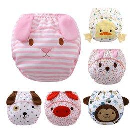 2016 nuevos pañales lindos del algodón del bebé 3 capas del niño impermeable infantil de los pañales de la historieta empaqueta los pañales reutilizables lavables que envían libremente por DHL