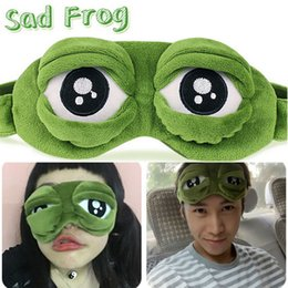 Wholesale 2016 Sad Frog D Sleep Mask Anime Cartoon Pepe The Frog Eye Masks Funny Cosplay Costumes Accessories Novelty Gift Free DHL