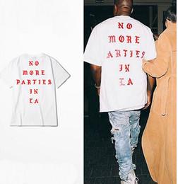 Wholesale S XXXL Kanye West life of Pablo Losangeles LA yeezus season white t shirt men no more parties in LA
