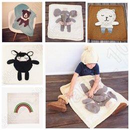 5 diseño KKA133 mano Knit Crochet Baby manta swaddle envolver bebé Crochet Swaddles 3D Ins mantas aire acondicionado toallas de baño 4pcs