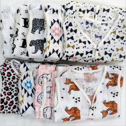 Discount cotton gauze patterns Baby Ins Sleeping Bags Swaddle Gauze Sleeveless Rompers INS Pajamas Batman Sleepsack Toddler Vest Nightclothes Swaddling Baby Clothes B1065