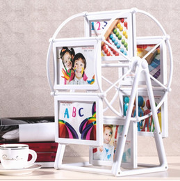 creative photo wall windmill photo frame ferris wheel rotating frame 5 inches photo frame