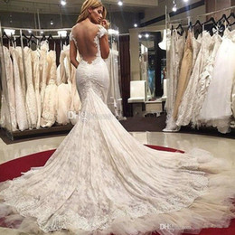 Wholesale sexy Mermaid plus size Wedding Dresses Sweetheart Cap Sleeves Appliques Lace Tulle Custom Made Wedding Gowns