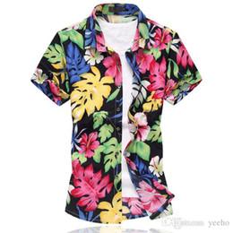 a3a591690d7 2017 New Fashion Mens Flower Shirt Summer Short Sleeve Slim Fit Shirt Men  High Quality Mens Floral Shirt Men Plus Size 6XL YH-174