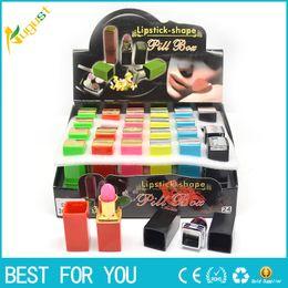 Wholesale 2016 new multi color lipstick storage box creative portable small pill small jewelry fixtures pills container organizer Box